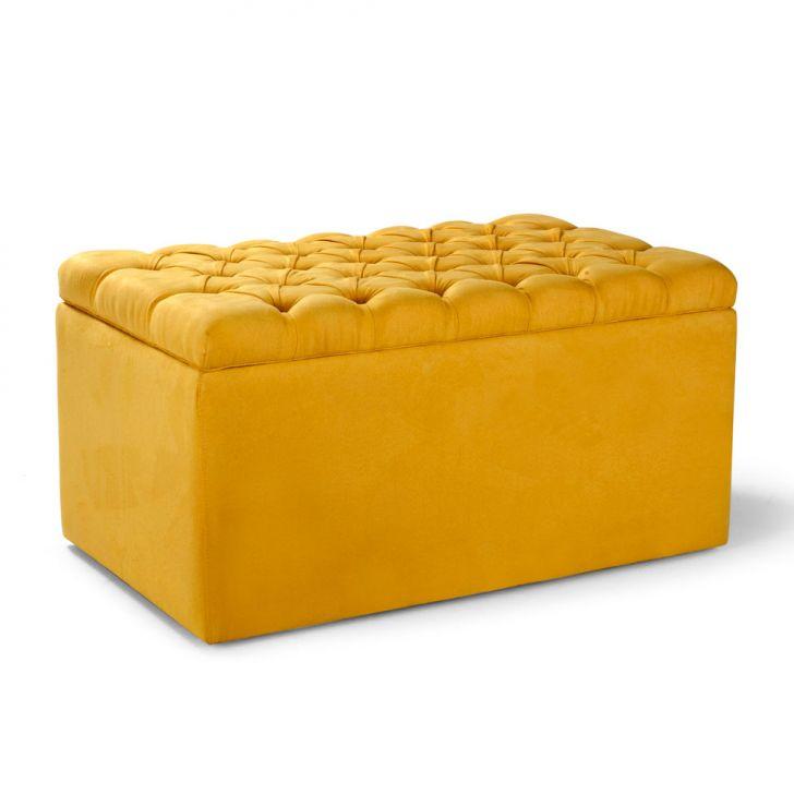 Puff Baú Gema Amarelo