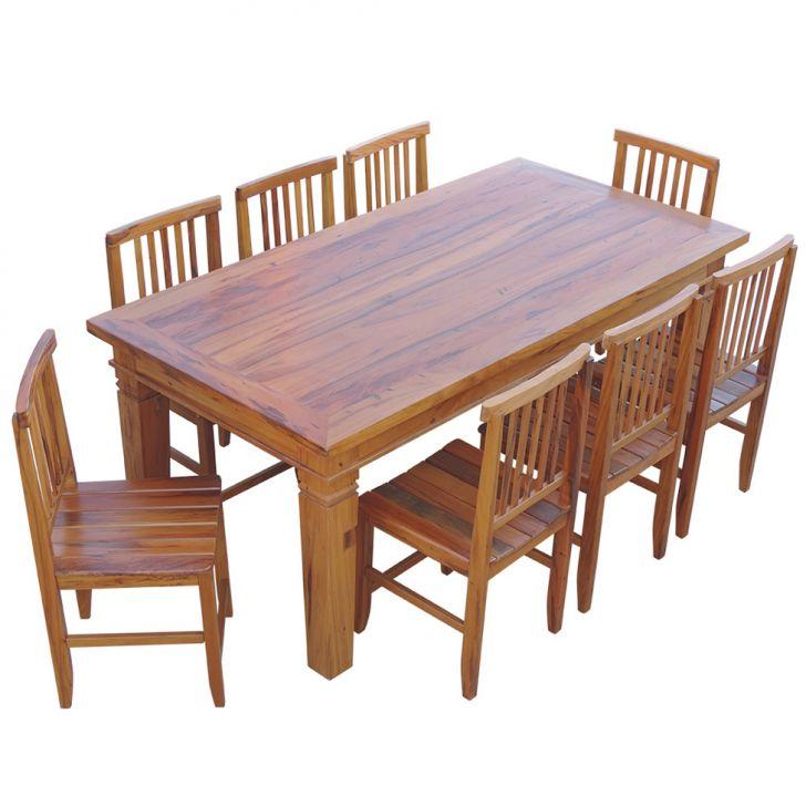 Conjunto mesa de jantar madeira de demoli o 2m com 8 for Sala 2 conjunto de artes escenicas