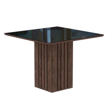 Mesa de Jantar Quadrada Ana Marrocos e Preta 95 cm