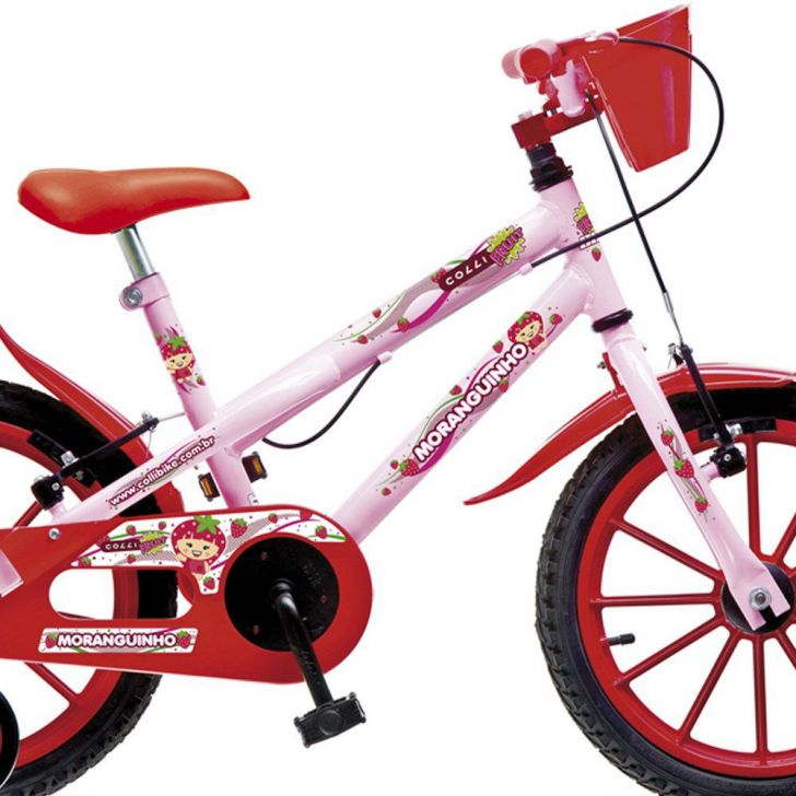 Edredon Bicicleta.Bicicleta Infantil Aro 16 Moranguinho Mtb Rosa Vermelho Colli Bikes