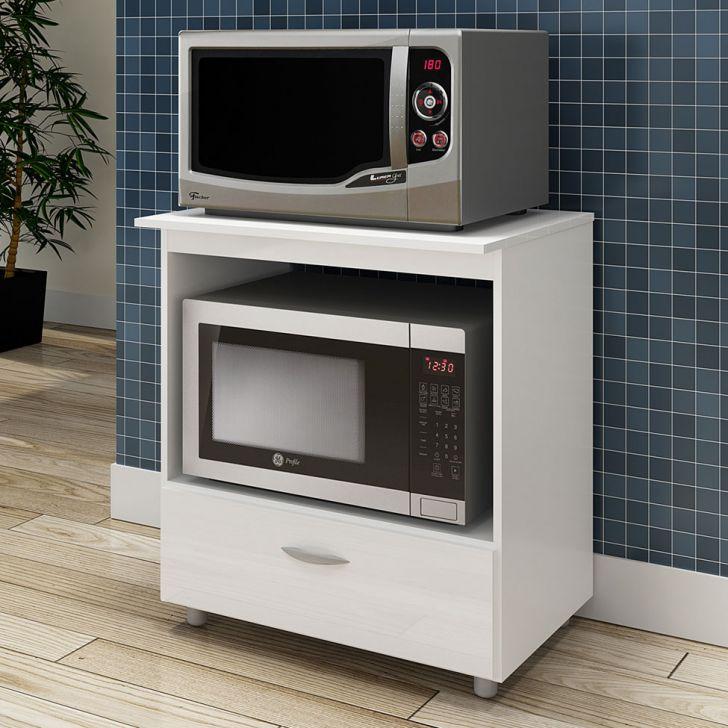 Armário Para Micro-ondas Melle 1 GV Branco