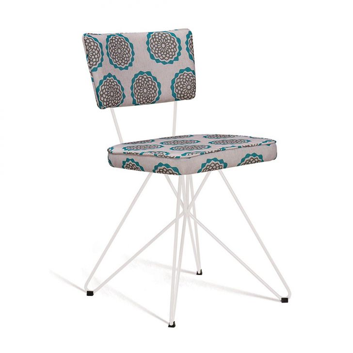 Cadeira Butterfly Retro Bege e Verde