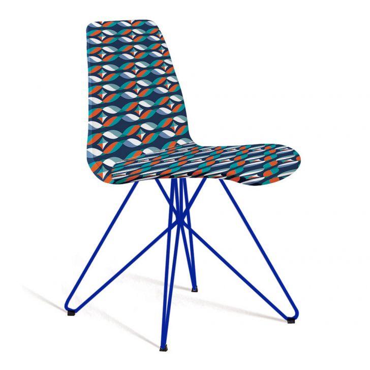 Cadeira Eames Butterfly II Azul