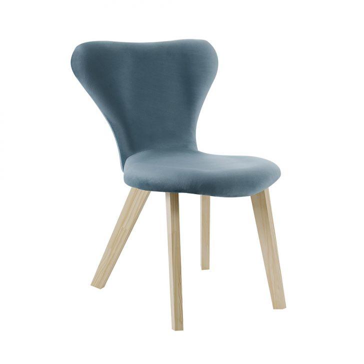 Cadeira de Jantar Açai Veludo Azul