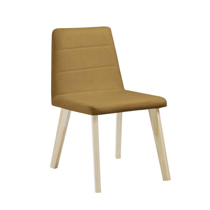 Cadeira de Jantar Caju Veludo Dourado