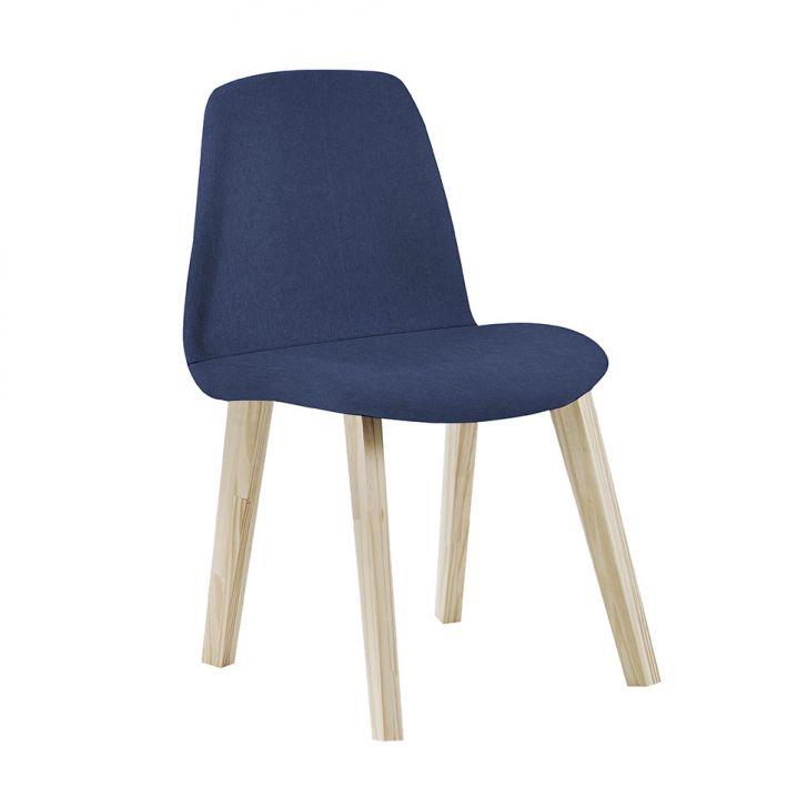 Cadeira de Jantar Pinha Lonita Azul Marinho