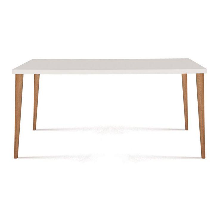 Mesa de Jantar Retangular Cripa Branco 120cm