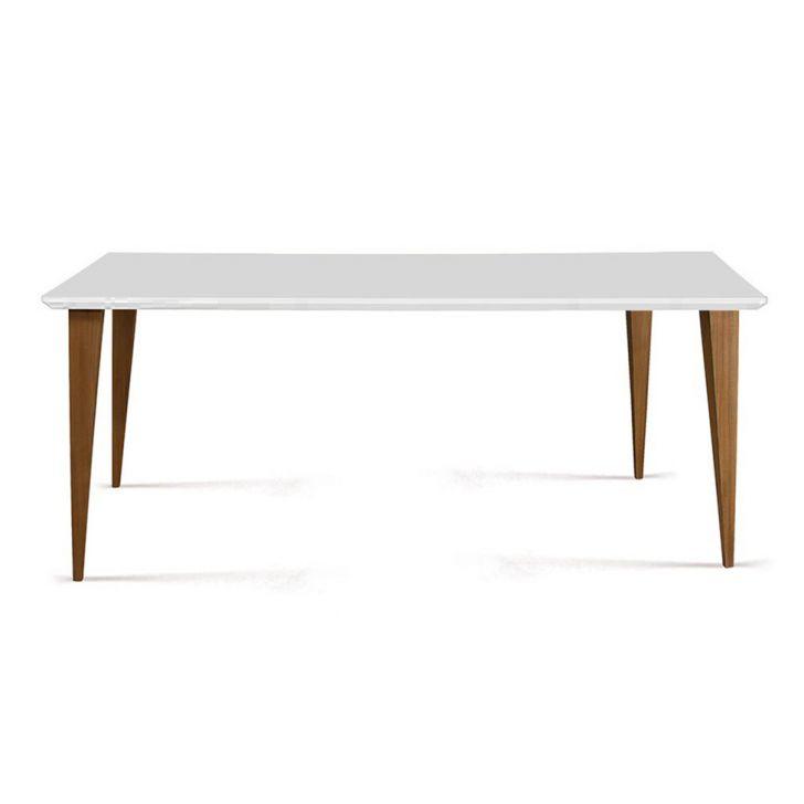 Mesa de Jantar Retangular Olivia Branca 160 cm