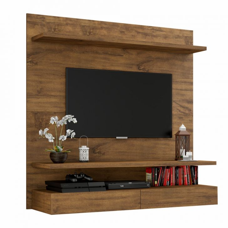 painel aracitaba ii para tv 47 polegadas nobre 120 cm. Black Bedroom Furniture Sets. Home Design Ideas