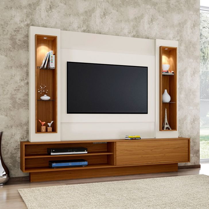 painel belo vale para tv 47 polegadas branco brilho off. Black Bedroom Furniture Sets. Home Design Ideas