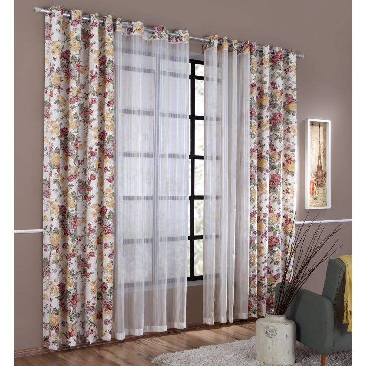 Cortina Madrid  2,00MX1,80M Decorella - Floral