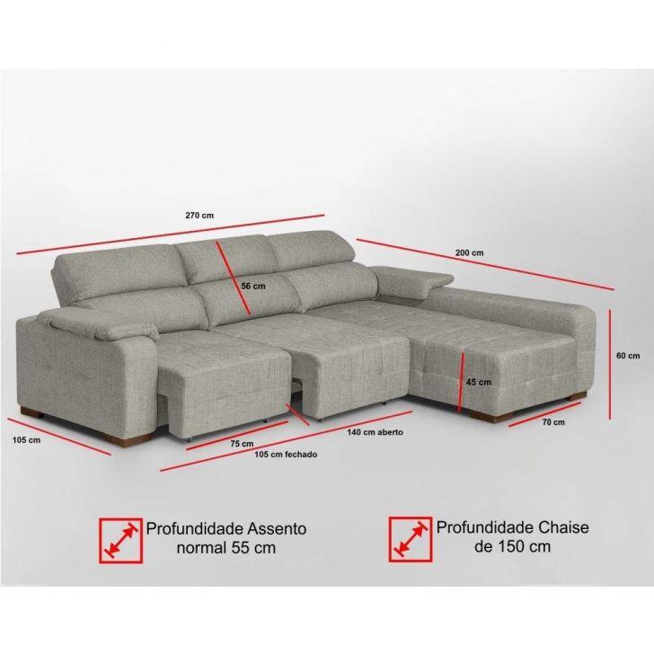 Superb Sofa 4 Lugares E Chaise Lado Esquerdo Spot Reclinavel Cinza Dmonegatto Forskolin Free Trial Chair Design Images Forskolin Free Trialorg