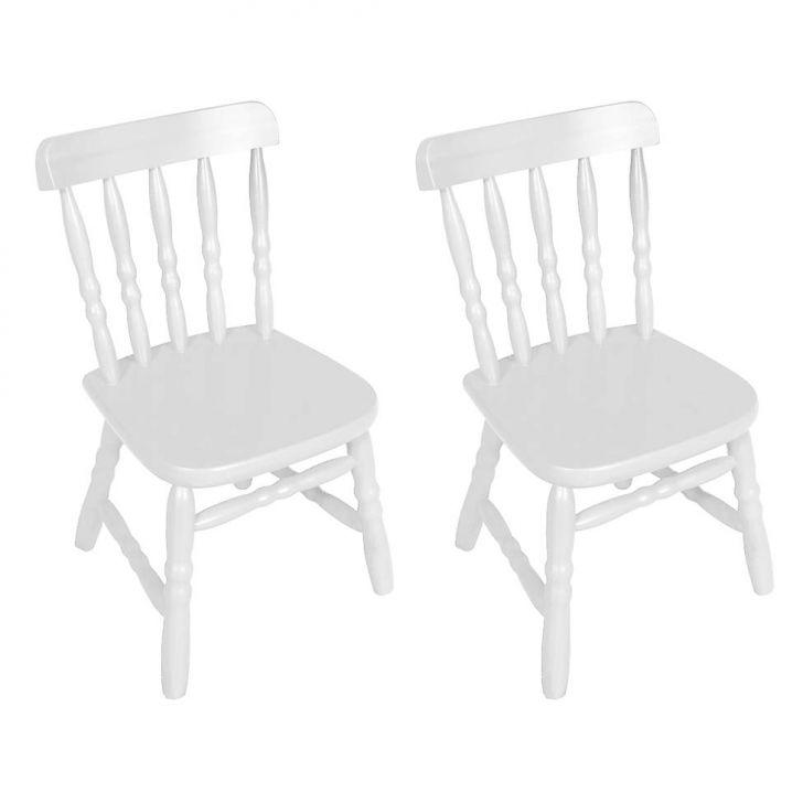 Conjunto 2 Cadeiras Infantil Country Branca