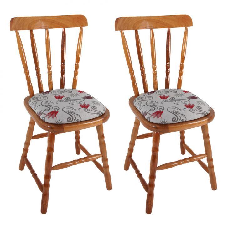 Conjunto com 2 Cadeiras Dalas Estofada Mel