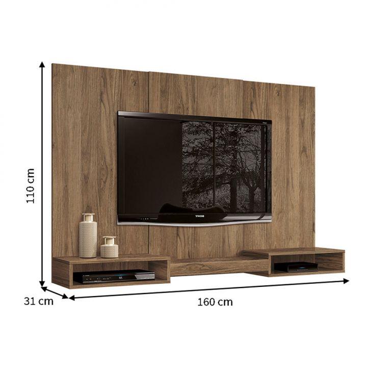 painel para tv 60 polegadas prime freijo 160 cm. Black Bedroom Furniture Sets. Home Design Ideas