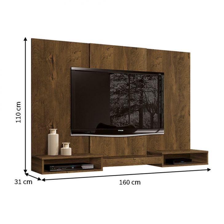 painel para tv 60 polegadas prime nogal r stico 160 cm. Black Bedroom Furniture Sets. Home Design Ideas