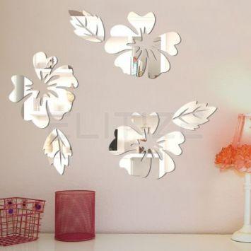 Espelho Decorativo em Acrílico Hibiscus - Grande DESCONTO DE R$: 127,40 (43,33% OFF) - OFERTA MOBLY