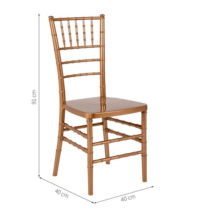 Preferência Cadeira Tiffany Dourada AG41