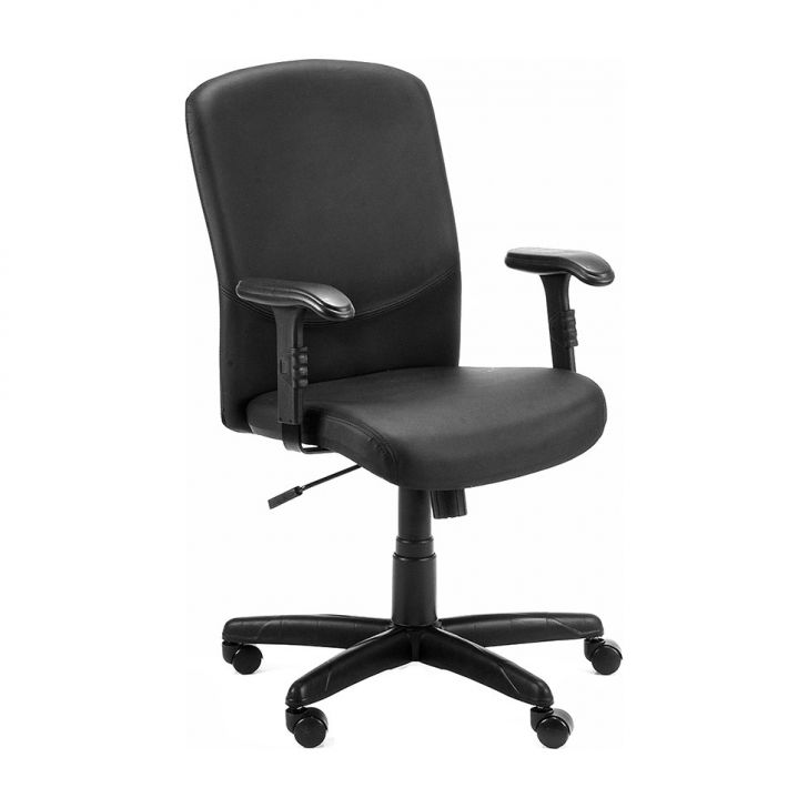 Cadeira de Escritório Diretor National Couro Ecológico Preto