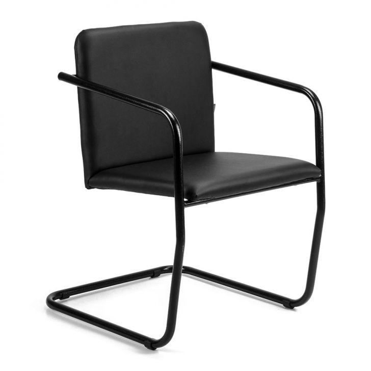 Cadeira de Escritório Lotus Fixa Preta