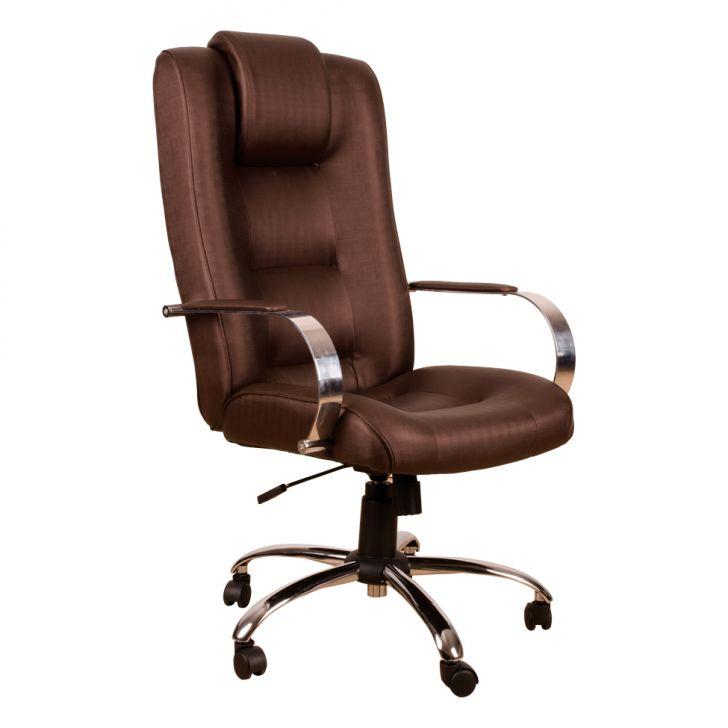 Cadeira de Escritório Presidente Vity Marrom