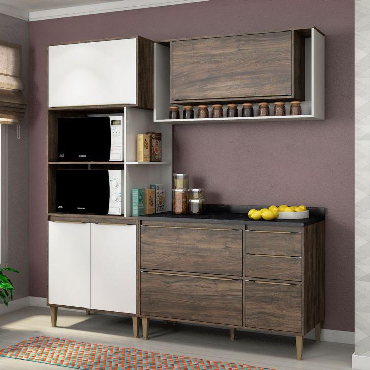 Cozinha Compacta Allure 6 PT 3 GV Naturalle e Branca