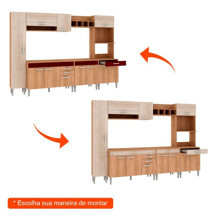 Foto 2 - Cozinha Compacta Classic Flex Color 11 PT 3 GV Carvalho com Blanche