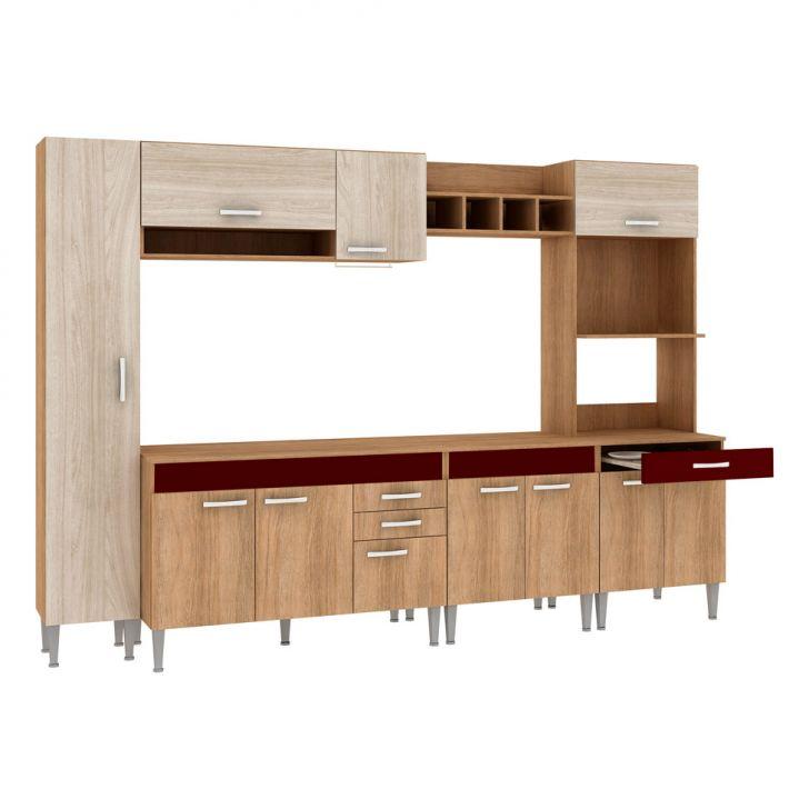 Foto 4 - Cozinha Compacta Classic Flex Color 11 PT 3 GV Carvalho com Blanche
