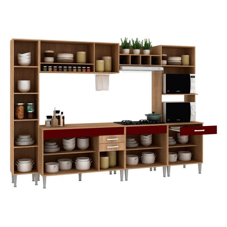 Foto 5 - Cozinha Compacta Classic Flex Color 11 PT 3 GV Carvalho com Blanche