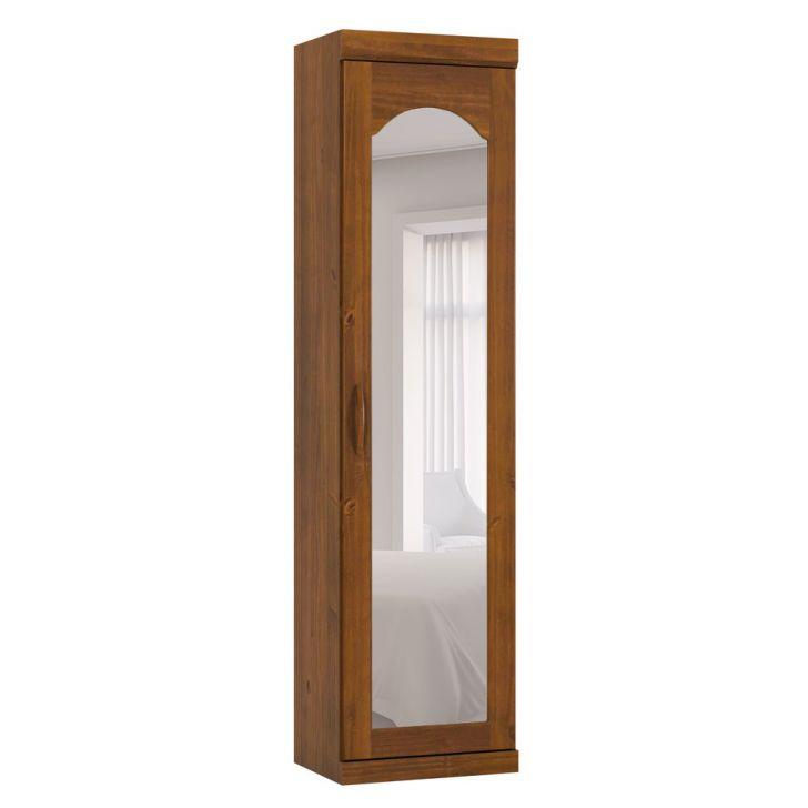 Guarda-Roupa Solteiro com Espelho Parma Módulo 1PT Imbuia
