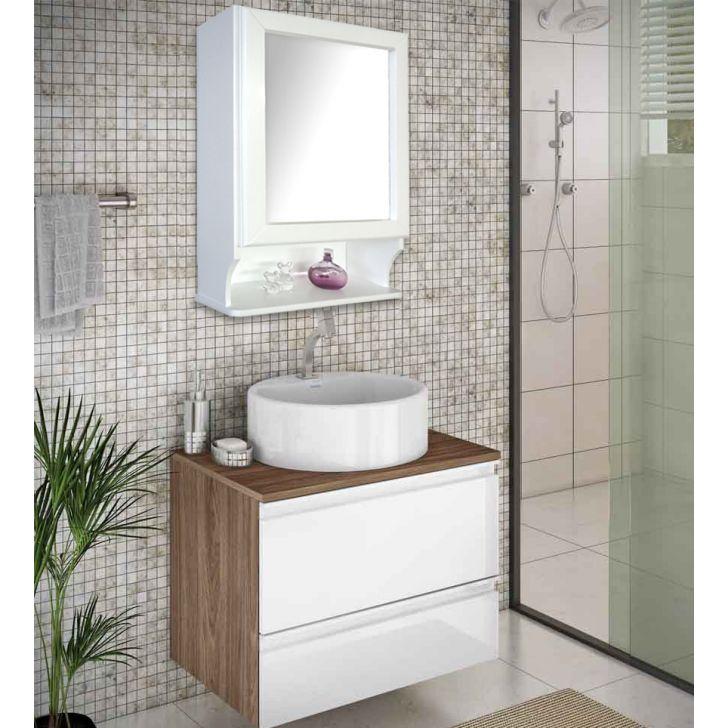 Armario Superior Com Espelho Para Banheiro : Arm?rio a?reo para banheiro com espelho retr? espelheira