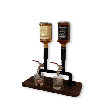 Dispenser Dosador Serve Bebidas Drinks Whisky Bar Adega Estilo Industrial Preto Laca DESCONTO DE R$: 60,00 (16,85% OFF) - OFERTA MOBLY