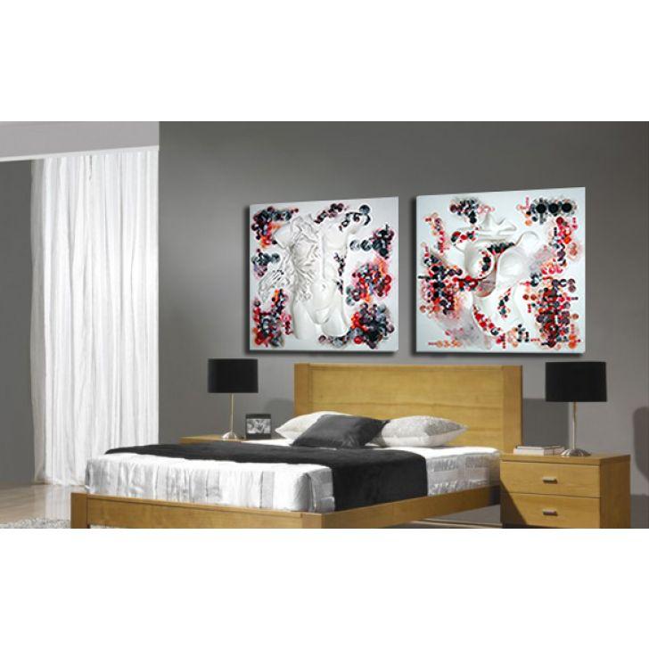 d73ebe339 Quadro Decorativo Tela impressa Canvas - Mulher 80 x 80 cm