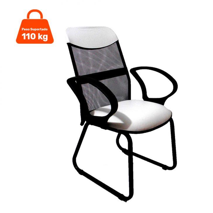 Cadeira Diretor Costaneira Soft Fixa Branco