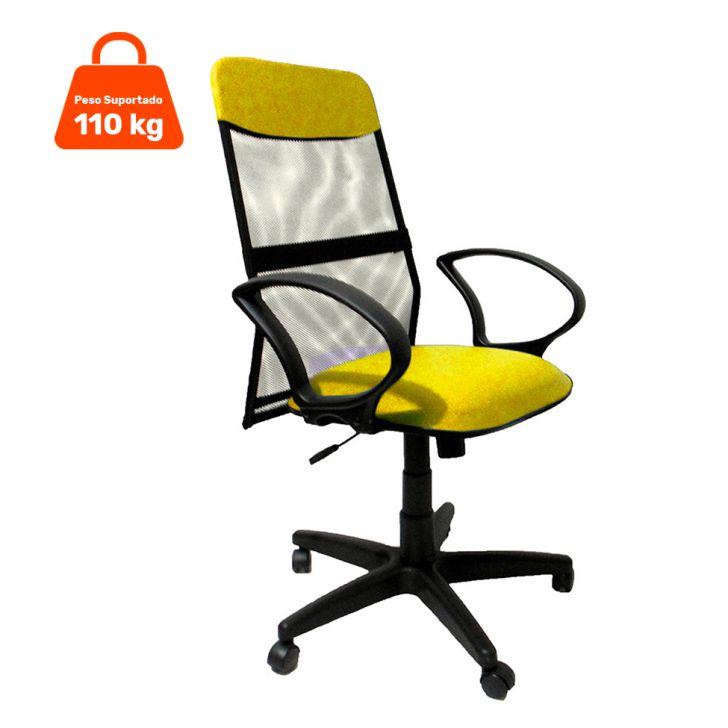 Cadeira Presidente Costaneira Soft Amarelo