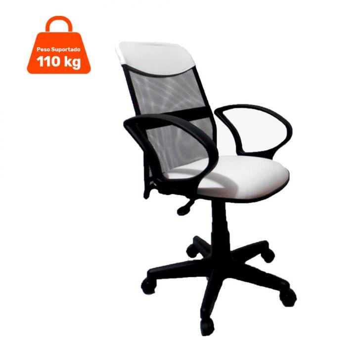 Cadeira de Escritório Diretor Costaneira Ajustável Branco