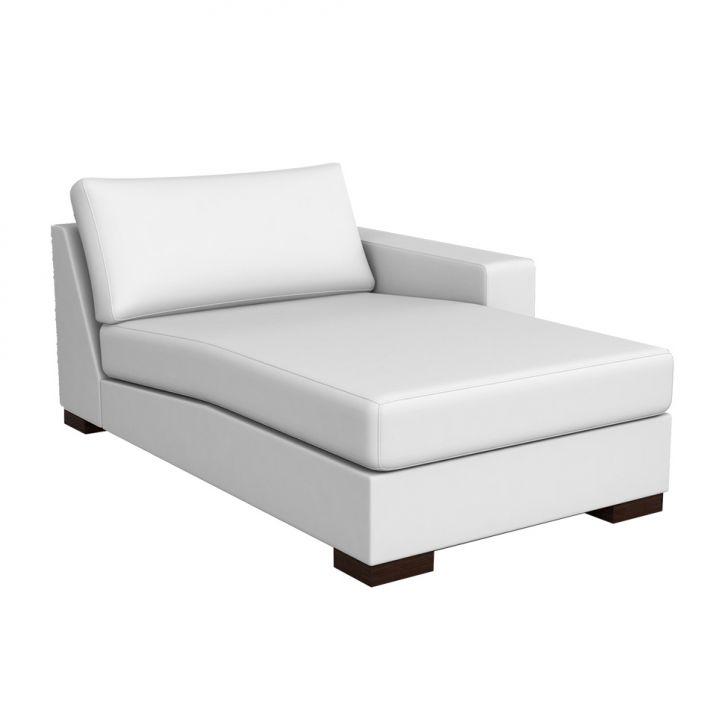Chaise Lounge Milão Couro Branco
