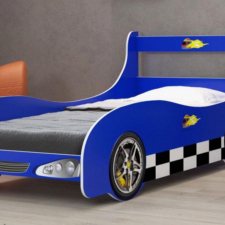Cama infantil carro rally azul - Cama coche infantil ...