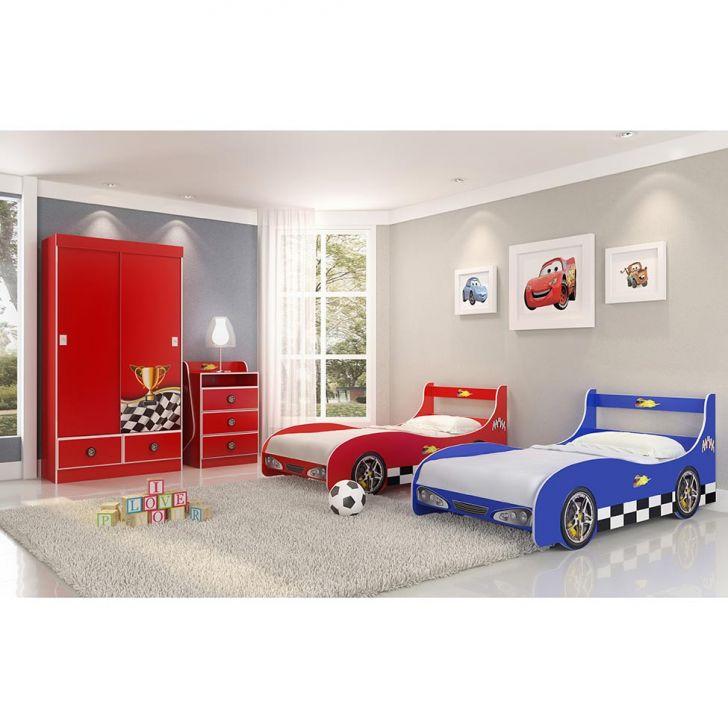 Cama infantil carro rally vermelho - Cama coche infantil ...