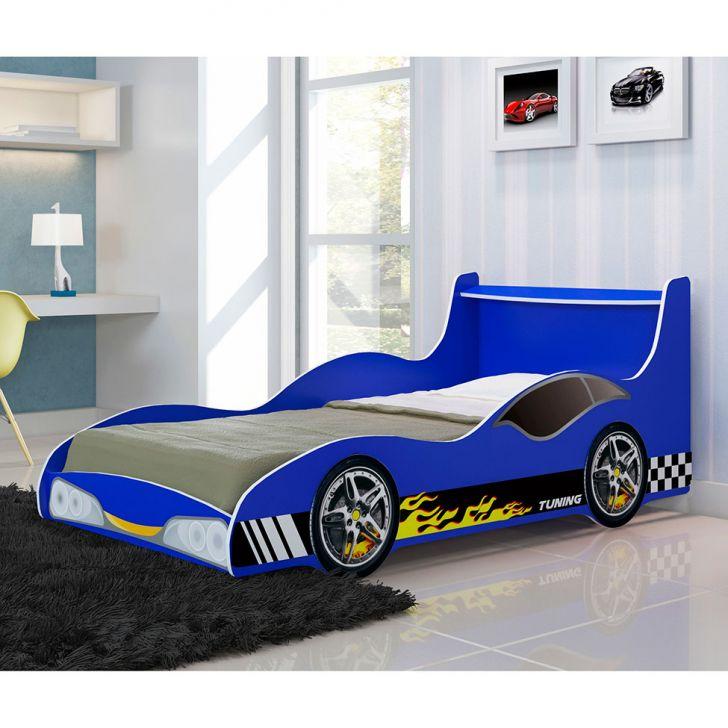 Cama infantil carro tuning azul - Cama en forma de auto ...