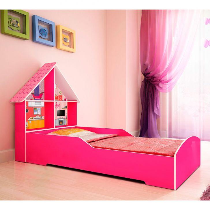 Cama infantil casinha rosa - Dosel para cama infantil ...