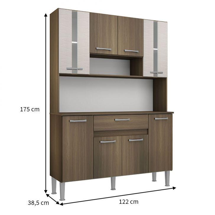 Foto 2 - Cozinha Compacta Anie 8 Pt 1 Gv Castanho e Mel