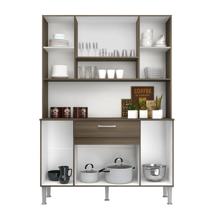 Foto 8 - Cozinha Compacta Anie 8 Pt 1 Gv Castanho e Mel