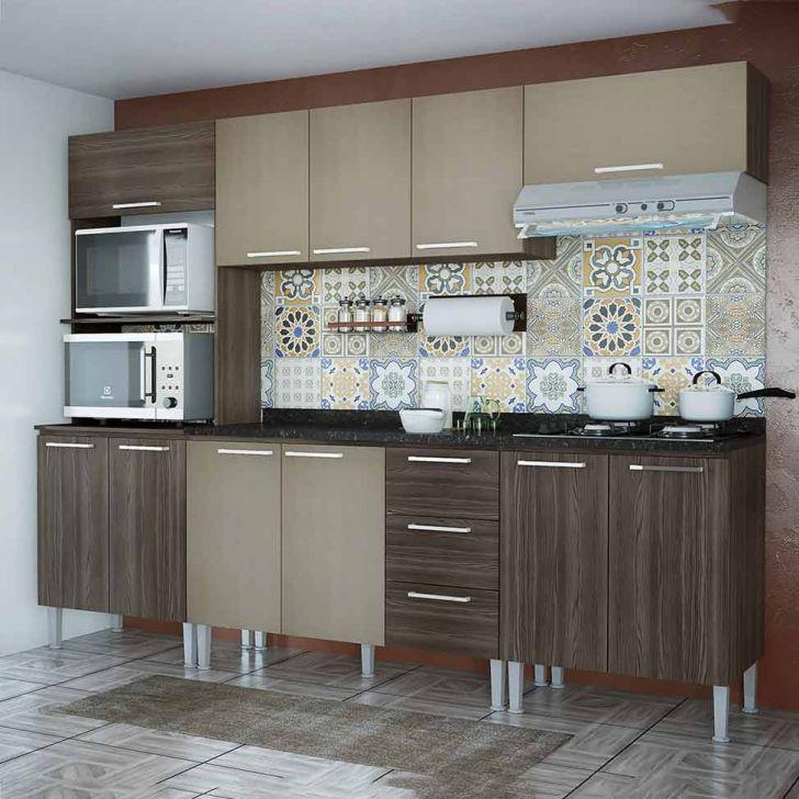 Cozinha Compacta Bianca 11 Pt 3 Gv Dakota e Ártico