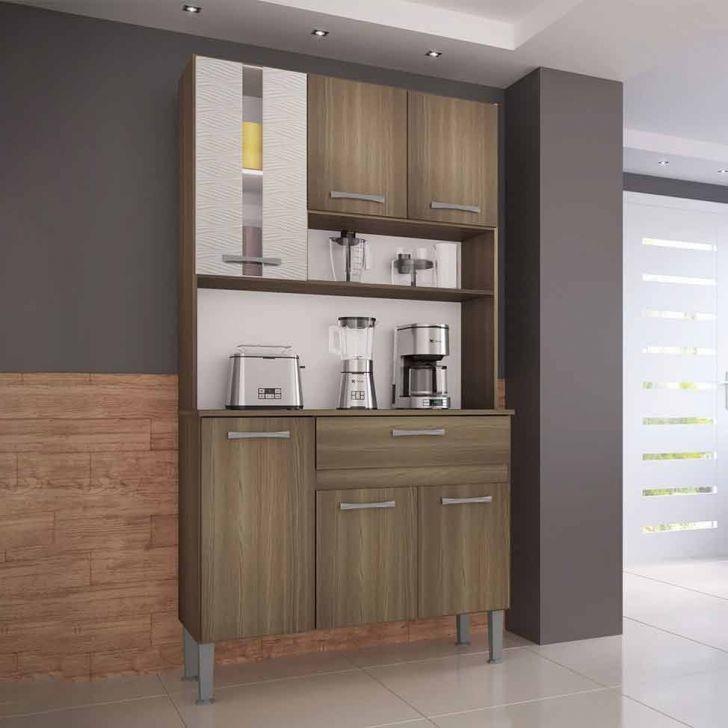 Cozinha Compacta Melissa 6 Pt 1 Gv Castanho e Mel