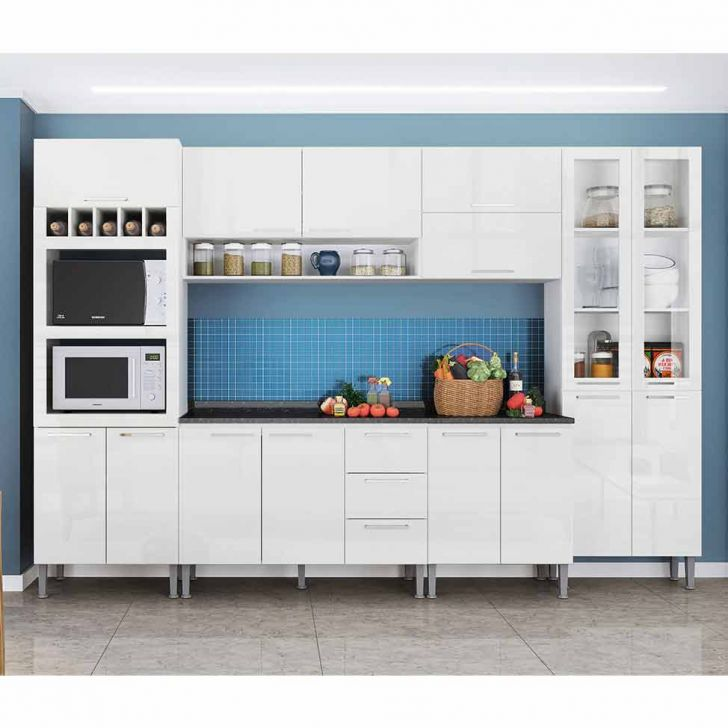 Cozinha Compacta Rafaela 15 Pt 3 Gv Branca