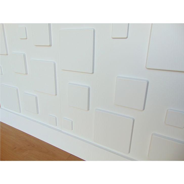 Placa revestimento de parede 3d quadratto em pvc 50x50 for Placas de pvc para paredes
