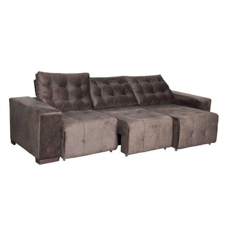 Sof 3 lugares retr til e reclin vel master plus suede marrom for Sofa 7 lugares retratil e reclinavel firenze