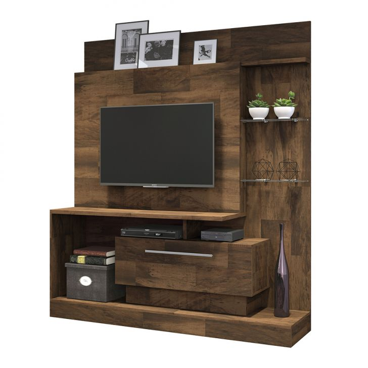 Home Theater O Cinema Na Sua Casa: Estante Para Home Theater E TV 50 Polegadas Colt Deck