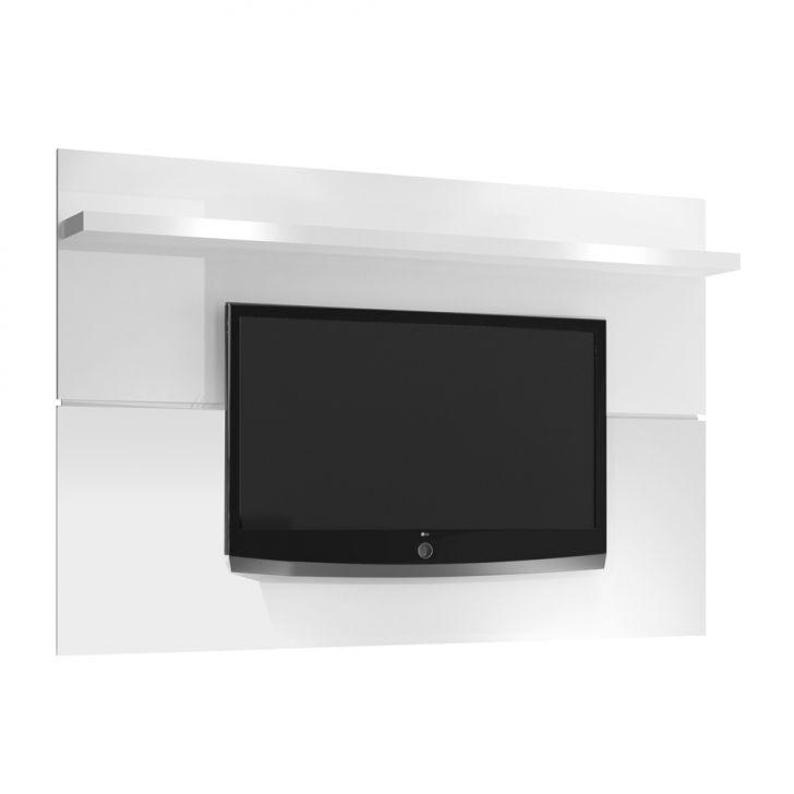 painel para tv 60 polegadas personale branco brilho 180 cm. Black Bedroom Furniture Sets. Home Design Ideas